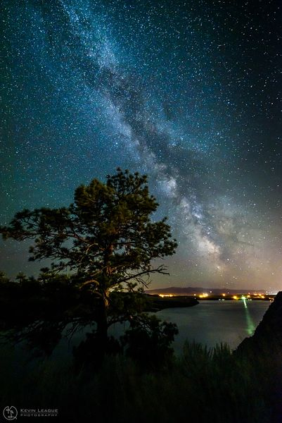 Milky Way over the Missouri River