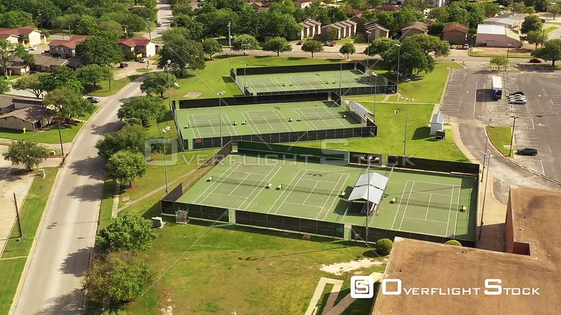 Abandoned High School Tennis Courts and  Parking Lot, Bryan, Texas, USA