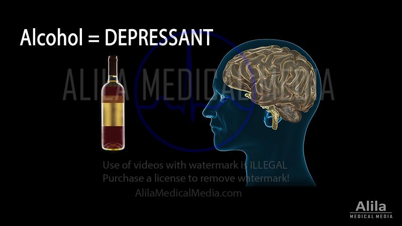 Alcohol addiction, PATIENT version, NARRATED animation.