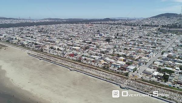 George Floyd Demonstration Sunset Residential District San Francisco California Drone Video