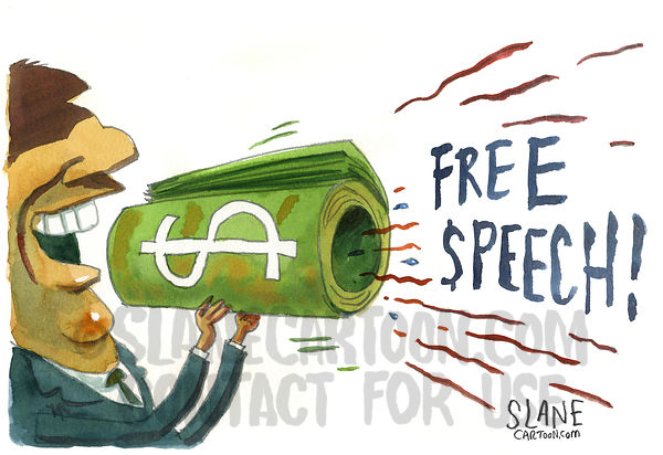 Free Speech Money Megaphone