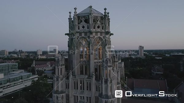 Drone Video Uinversity of Chicago Chapel Buildings