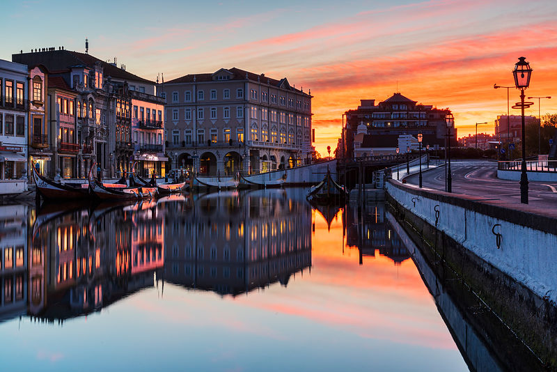 A Canal in Aveiro at Dawn