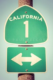 Pacific Coast Highway Sign California State Route 1 Photo