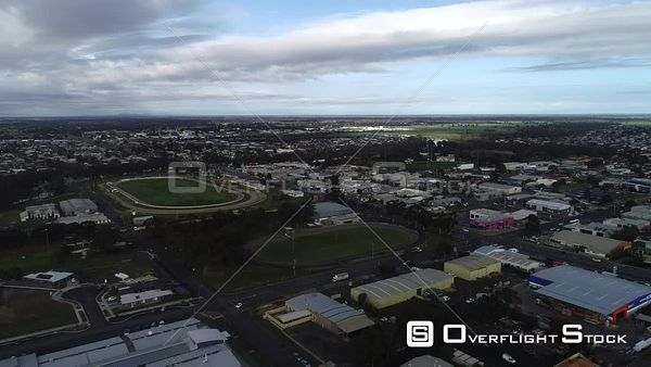Town of Horsham Cycling Track Victoria Australia Drone View