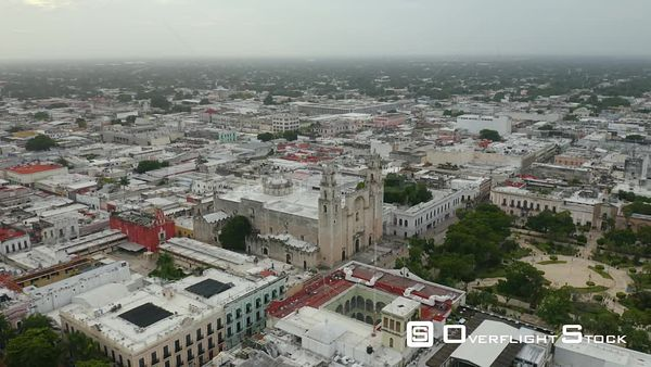 Merida City Drone Aerial View Mexico