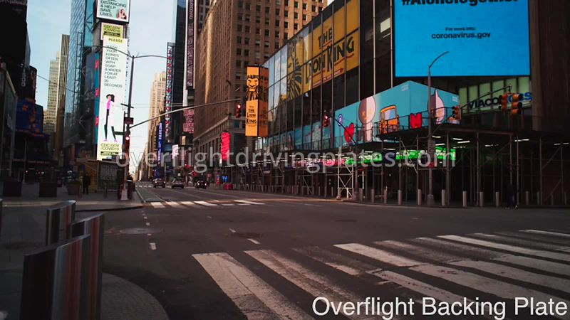 Broadway Deserted Streets During Covid-19 Pandemic 8k Times Square Manhattan NYC New York USA - BackingPlate Apr 26, 2020