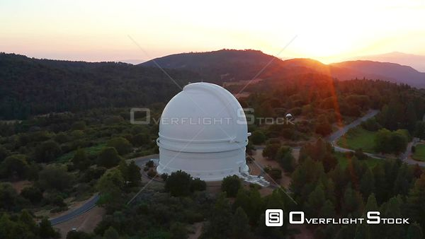 Drone Video Mt Palomar Observatory California