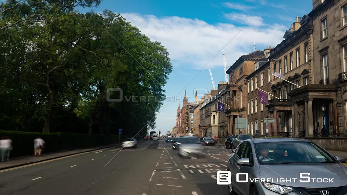 Timelapse View of Queen Street in Edinburgh New Town Scotland