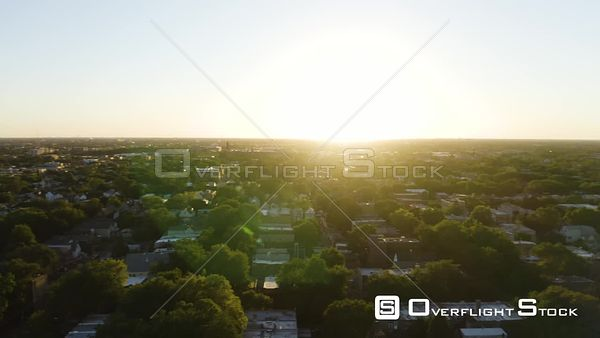 Chicago Suburb Drone View