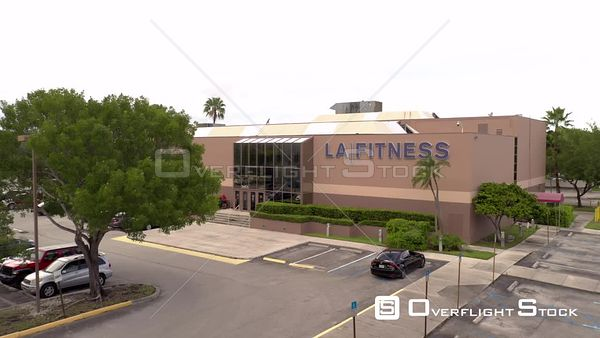 La Fitness Gym Aventura FL USA shot with aerial drone