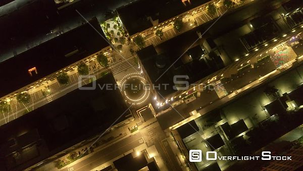 Overhead of The Row, Downtown, Los Angeles, CA