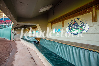 Players Dugout at McCoy Stadium