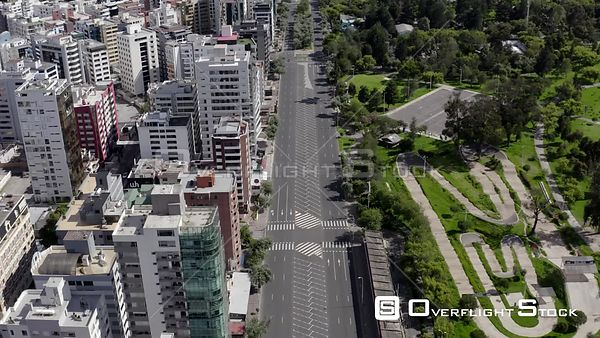 Drone Video of Lockdown of Quito Shyris Ecuador during COVID-19 Coronavirus Pandemic