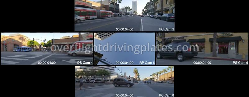 Downtown Afternoon  Santa Monica California USA - Driving Plate Preview 2012