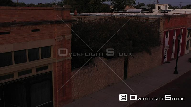 Western Ghost Town, Abandoned Retail Buildings, Bartlett, Texas, USA