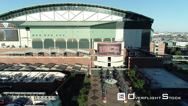 Drone Video Chase Field Phoenix Arizona During COVID-19 Pandemic