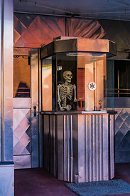 Strand Theatre Box Office Ready for Halloween in Helper, Utah