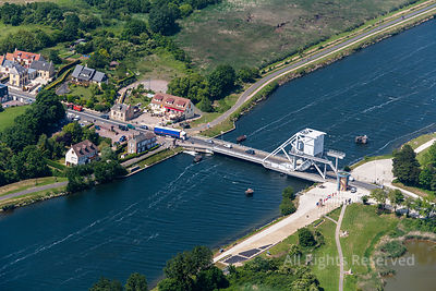 The bridge of Bénouville on the Caen canal to the sea, which replaced the old Pegasus bridge. France