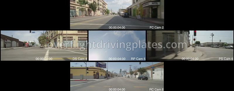 Warehouse District  Los Angeles California USA - Driving Plate Preview 2012