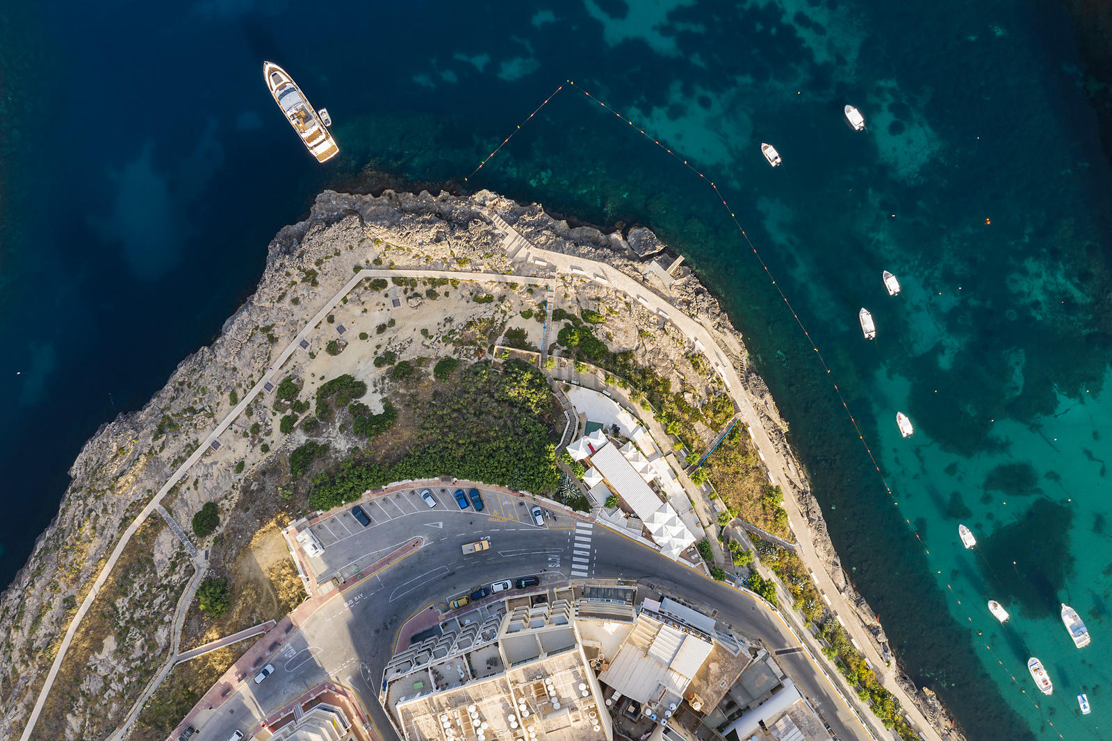 Aerial View of Mouth of Xlendi Bay