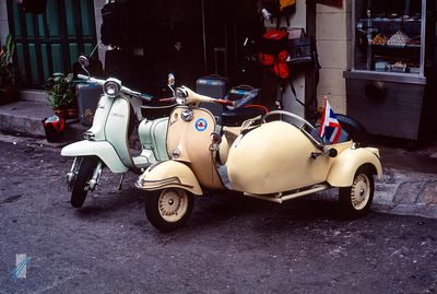 Vespa scooters & sidecar