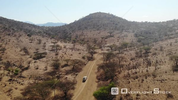 Jeep Driving through the Backcountry of Africa