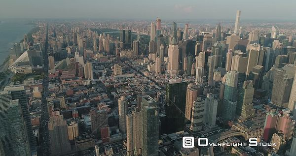 High Aerial View of Upper West Side Manhattan New York City
