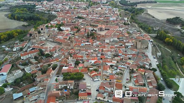 Town of Arevalo Spain Drone Video View