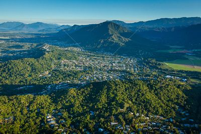 Aerial view of Redlynch in Queensland, Australia.