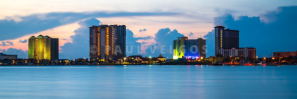 Pensacola Beach Florida Skyline Panorama Photo