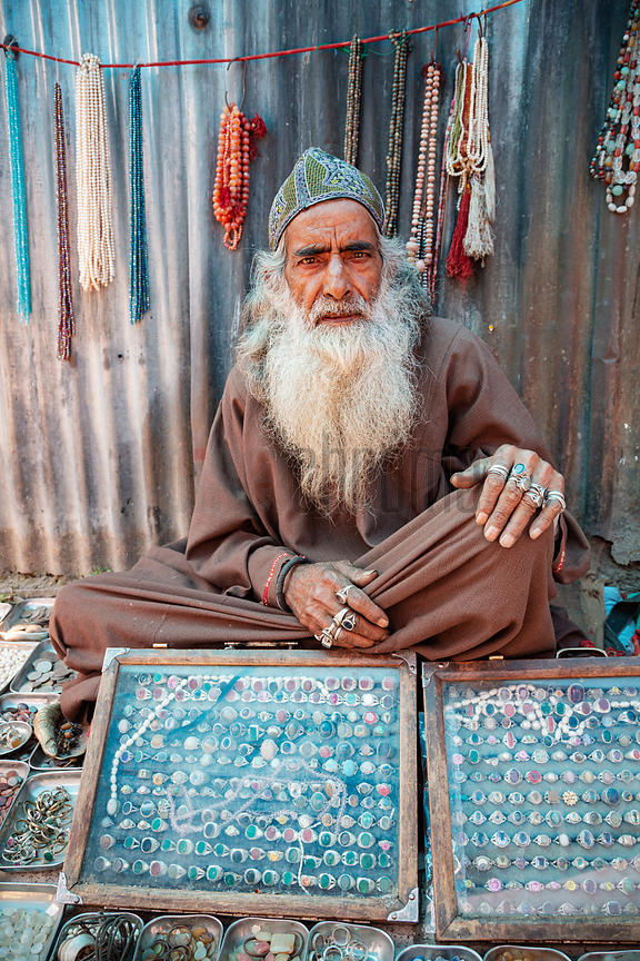 Man Selling Jewelry