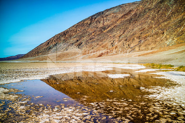 A pool of water in Death Valley National Park