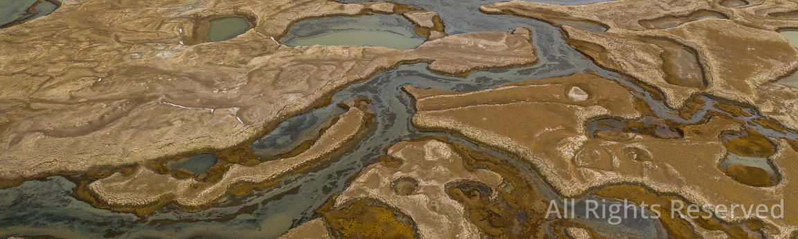 Abstract Aerial Patterns of Wetland Near the Chatyr-kul Lake in Kyrgyzstan. the Ramsar Convention on Wetlands of Internationa...