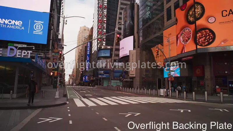 43rd Street Deserted Streets During Covid-19 Pandemic Time Square Manhattan New York New York USA - BackingPlate Apr 26, 2020