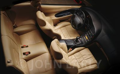 Supple Leather Sportcar Interior From Above