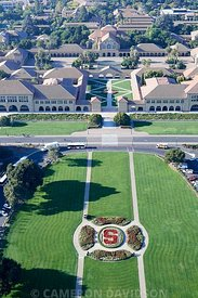 Aerial photograph of Stanford University