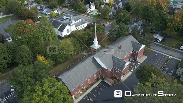 The Village of Fairport Upstate New York Drone View