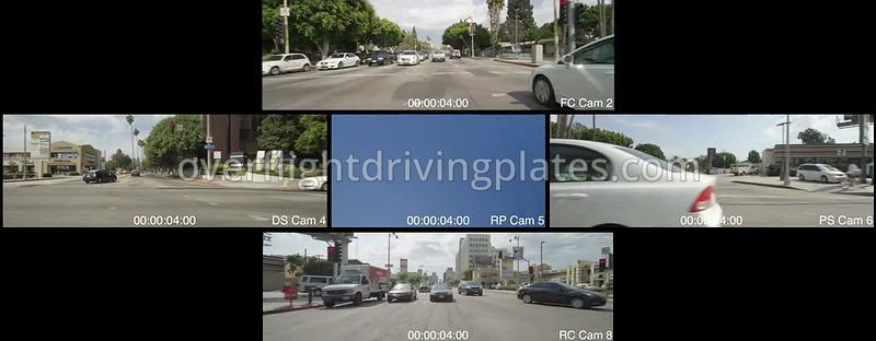 Wilshire Boulevard  Los Angeles California USA - Driving Plate Preview 2012