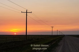 Sunrise on Dirt Road, Springfield, Colorado, USA