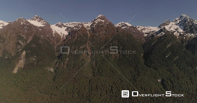 Fiordland National Park New Zealand Snow Capped Mountain Range