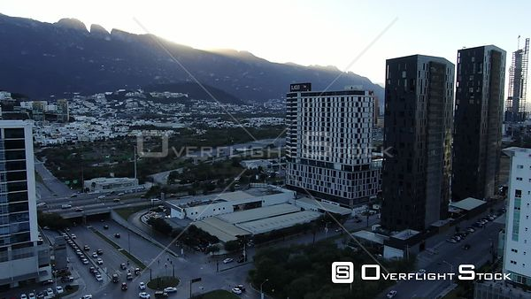 Drone Video Downtown Monterrey Mexico