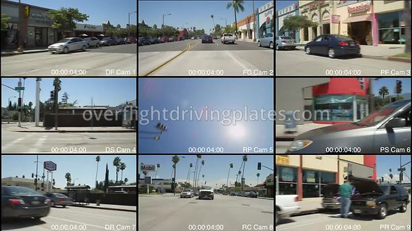 East Colorado Boulevard  Pasadena California USA - Driving Plate Preview 2012