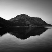 Waterton Silhouette Reflection