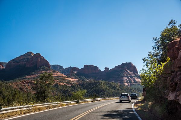 A long way down the road going to Sedona, Arizona