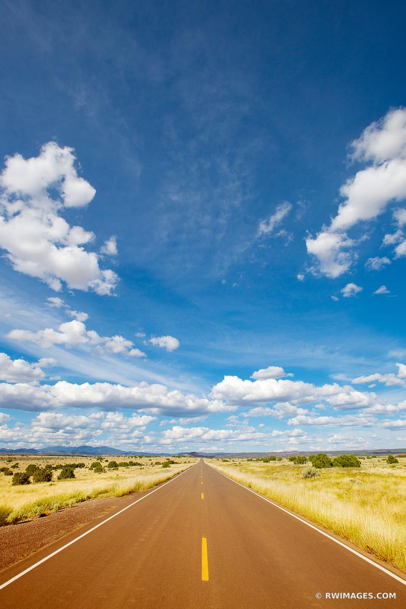 DRIVING TURQUOISE TRAIL ROAD NEW MEXICO COLOR VERTICAL