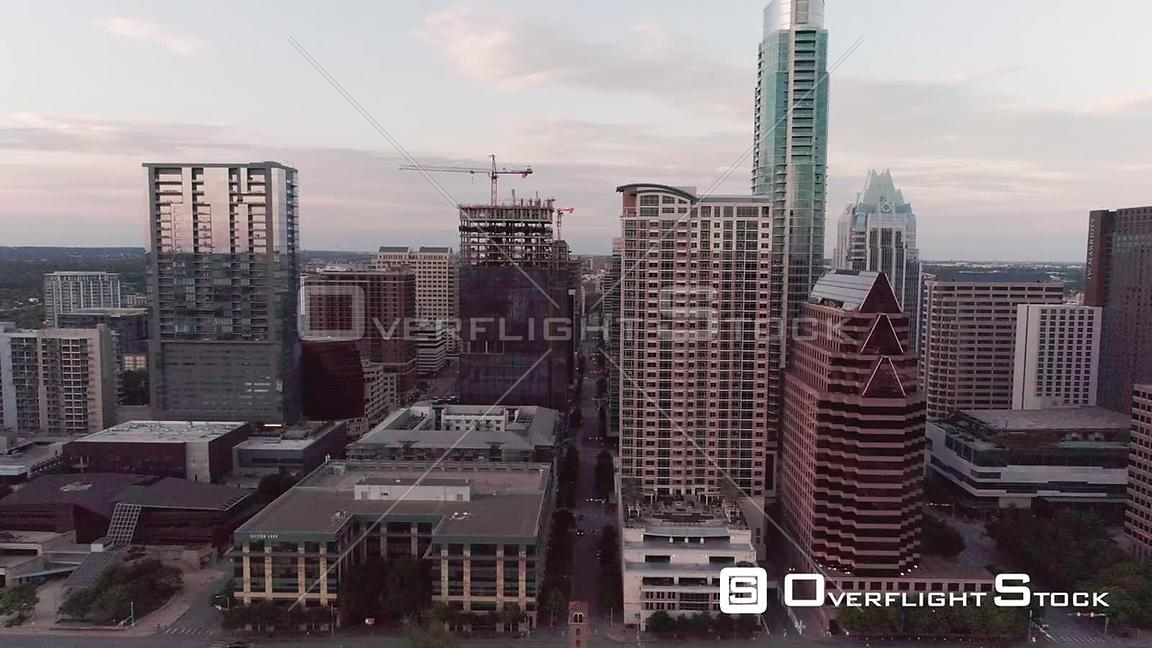 Drone Video of Downtown Austin Texas During COVID-19 Pandemic