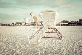 Pensacola Beach Lifeguard Tower 2 Retro Photo