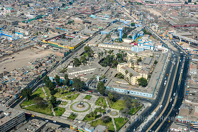 Commercial Areas of Capital City Lima Peru