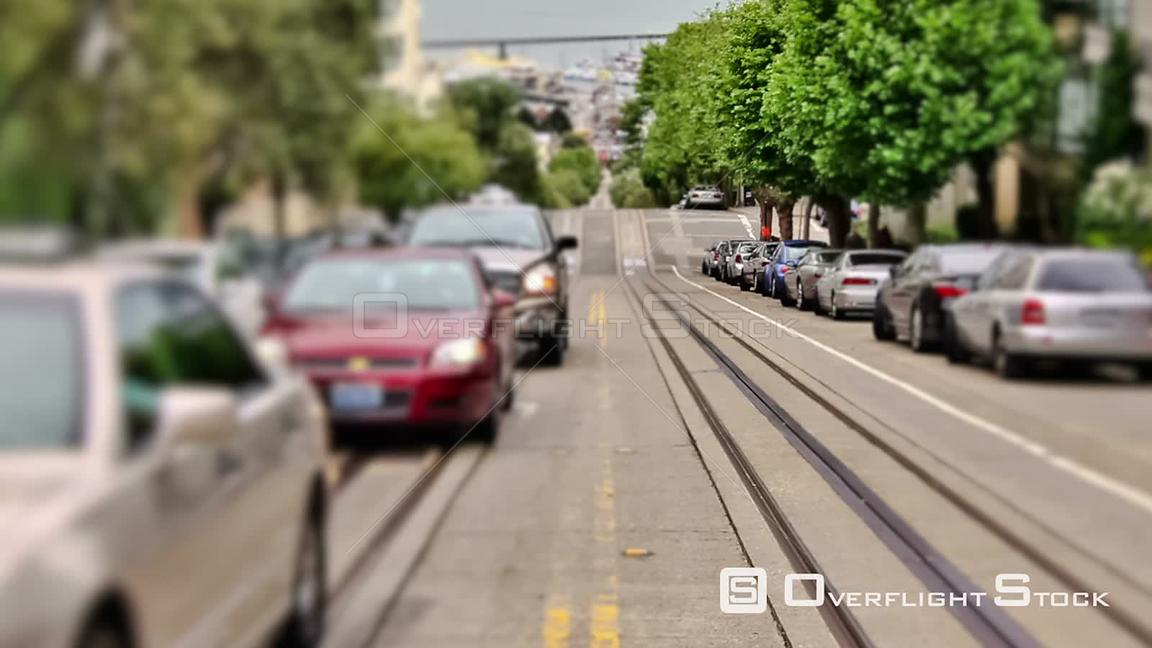 City traffic time lapse San Francisco California